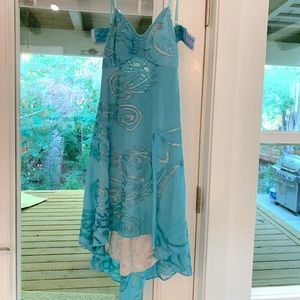 Tracy Reese Blue Handkerchief dress Small